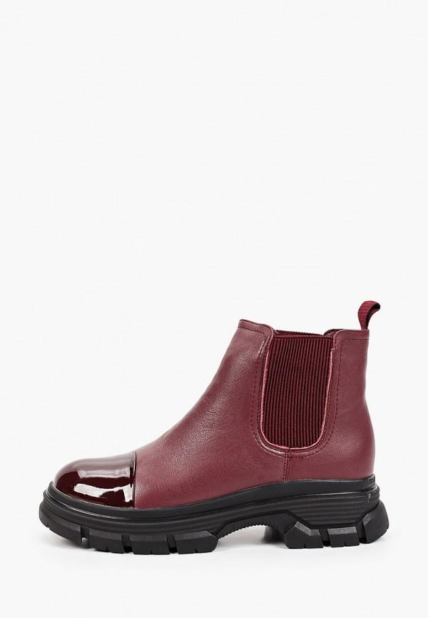 женские ботинки-челси berkonty, бордовые