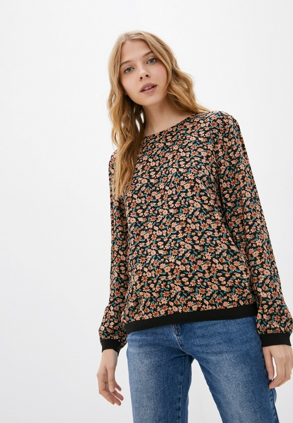 женская блузка с длинным рукавом baon, разноцветная