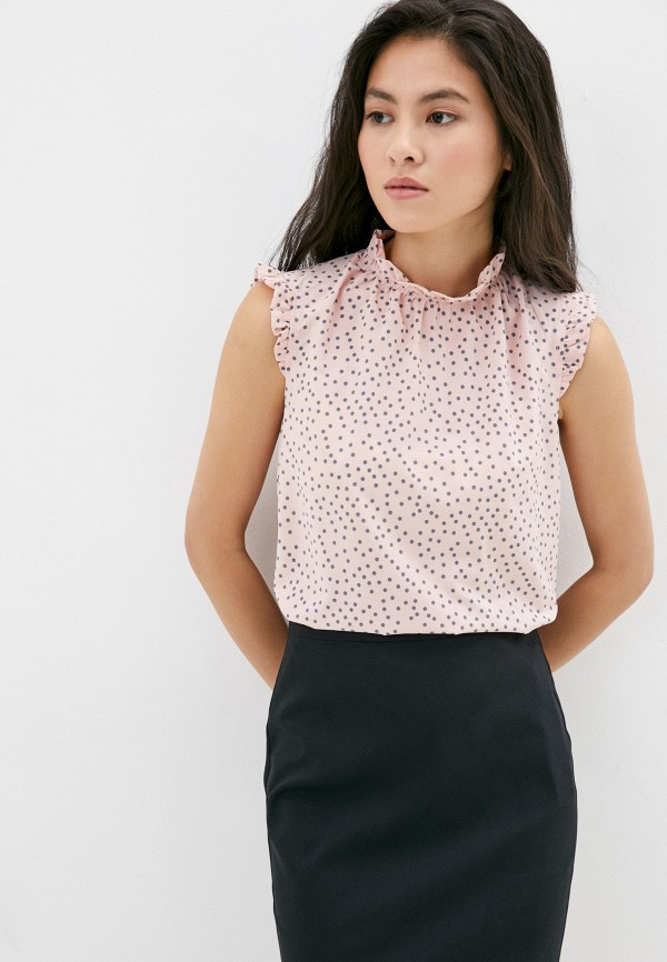 женская блузка без рукавов sezoni, розовая