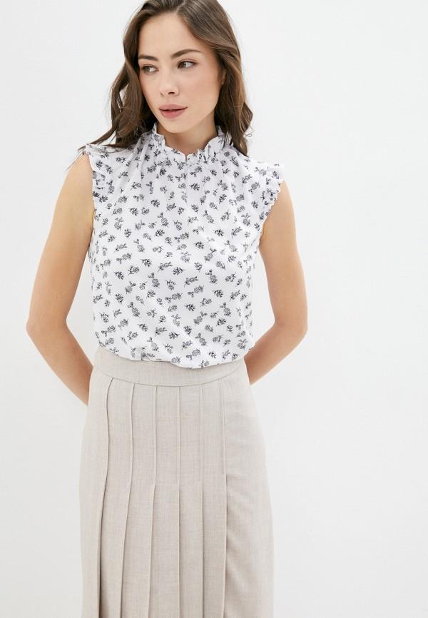 женская блузка без рукавов sezoni, белая