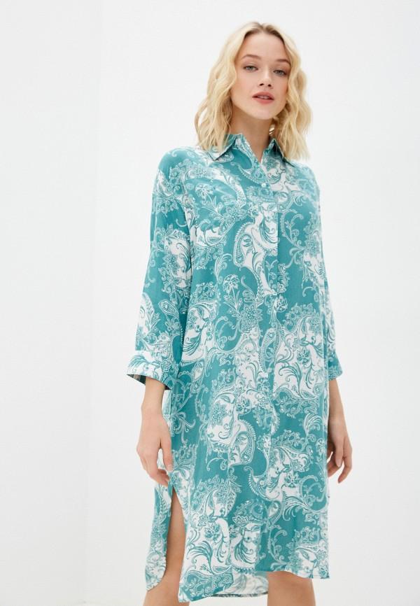 женское платье eva cambru, бирюзовое