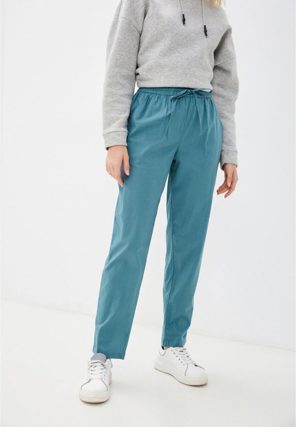женские брюки джоггеры eva cambru, бирюзовые