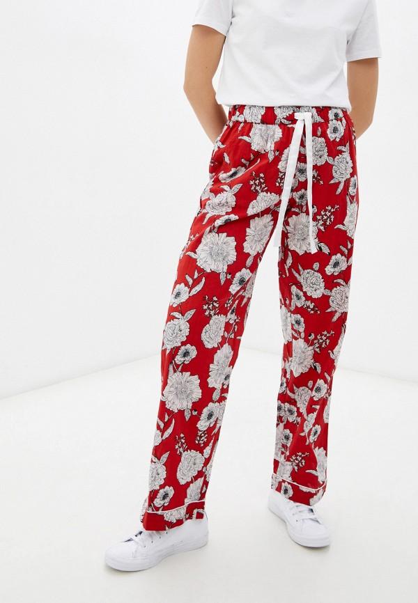 женские повседневные брюки eva cambru, красные