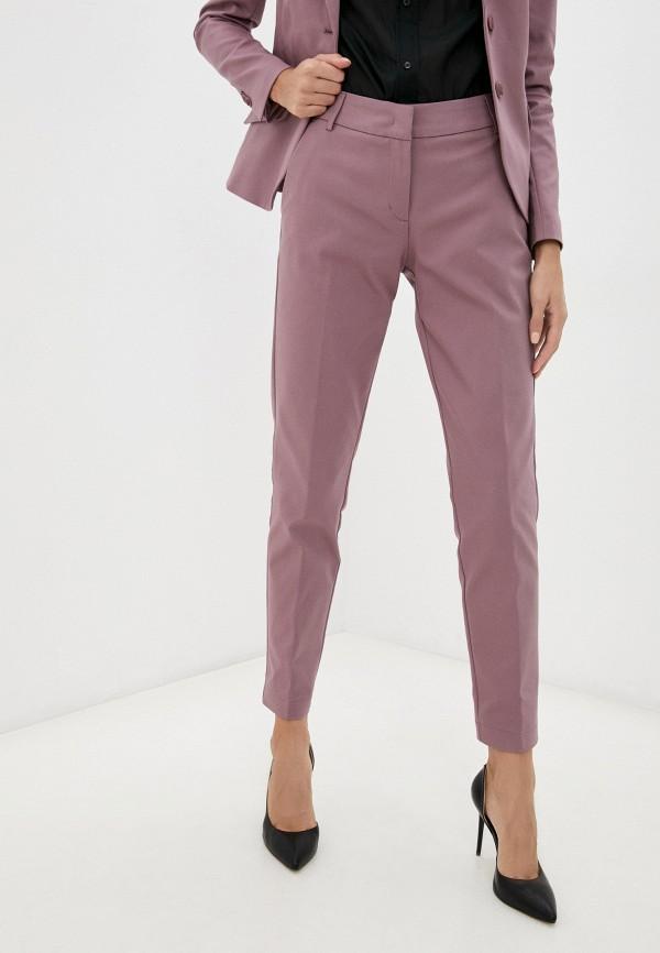 женские зауженные брюки summum, фиолетовые