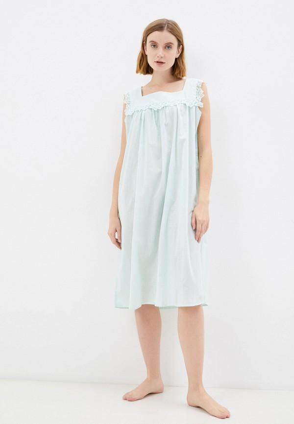 женские сорочка ночная eva cambru, бирюзовые