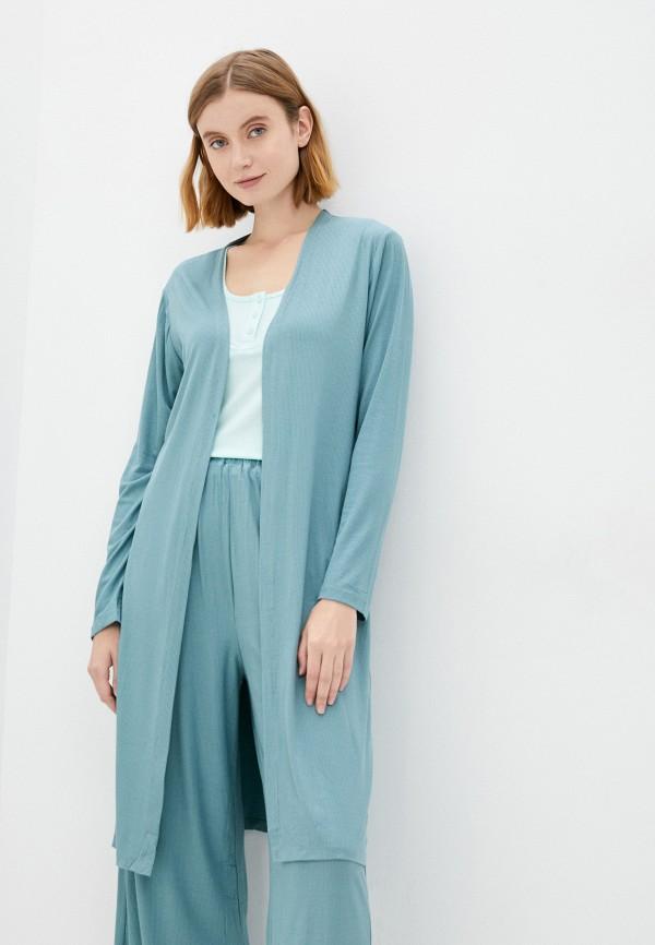 женский халат eva cambru, бирюзовый