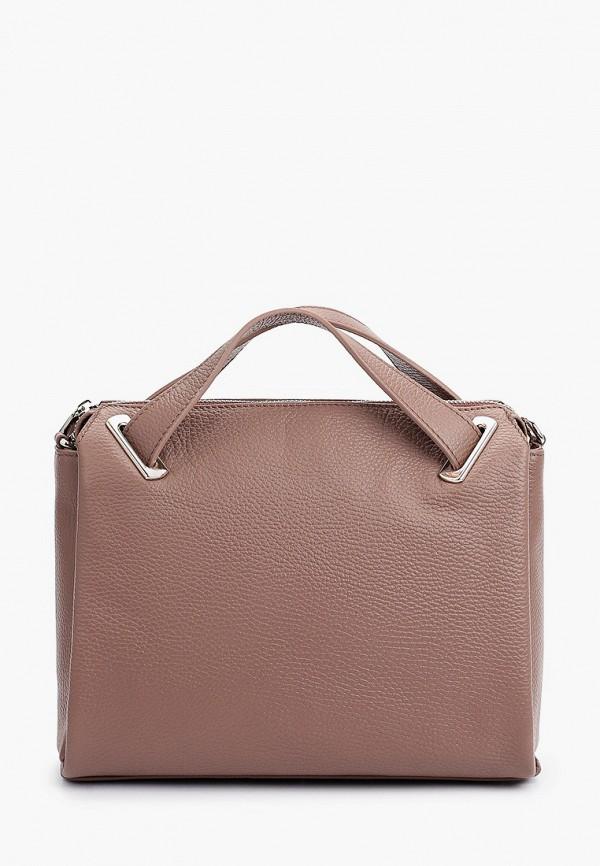 женская сумка с ручками afina, розовая