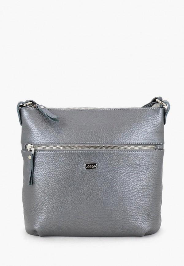женская сумка через плечо solo, серая
