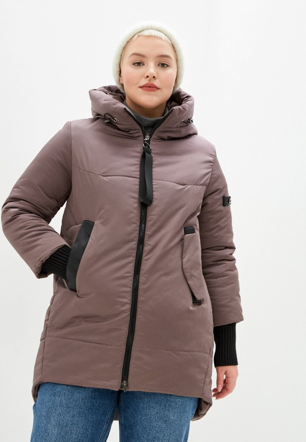 Куртка утепленная Grafinia коричневого цвета