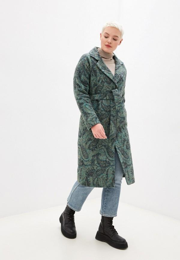 Пальто Grafinia зеленого цвета