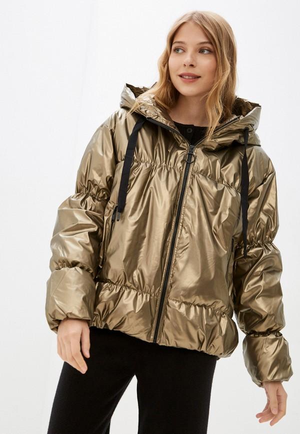женская утепленные куртка baon, золотая