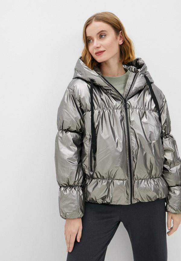 женская утепленные куртка baon, серебряная