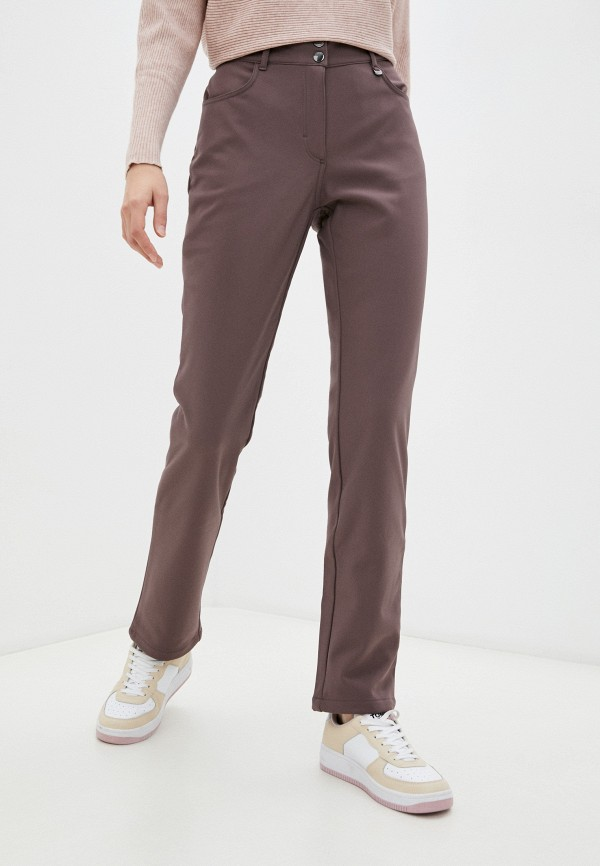 женские утепленные брюки baon, фиолетовые