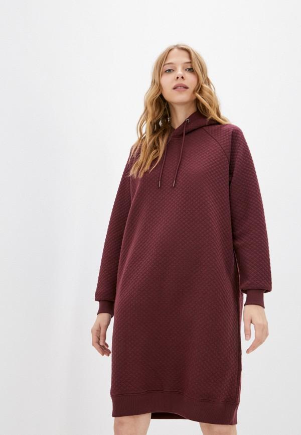 женское платье-толстовки baon, бордовое