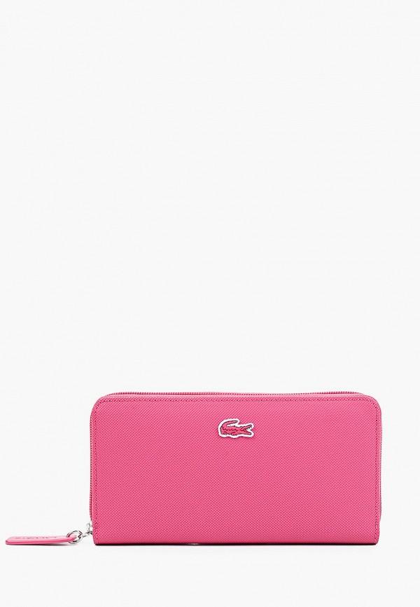 женский кошелёк lacoste, розовый