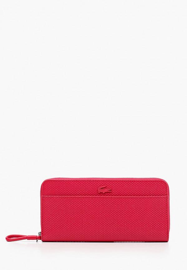 женский кошелёк lacoste, красный