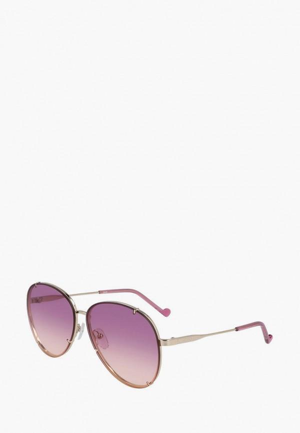женские авиаторы солнцезащитные очки liu jo, розовые