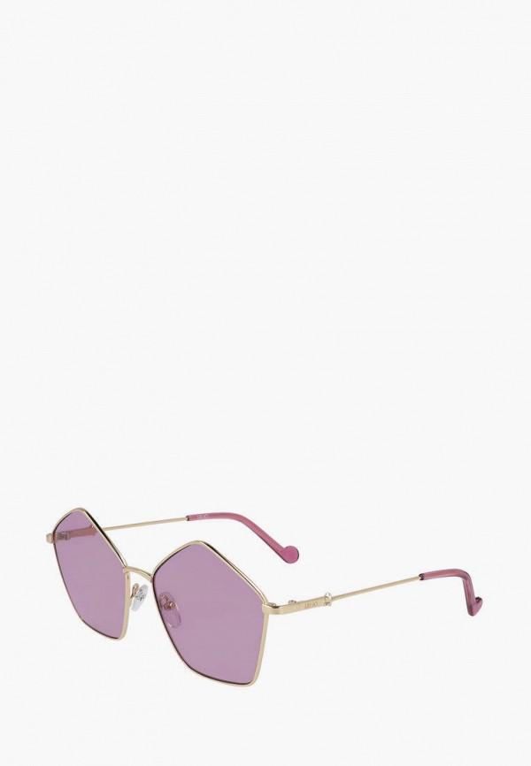женские солнцезащитные очки liu jo, золотые