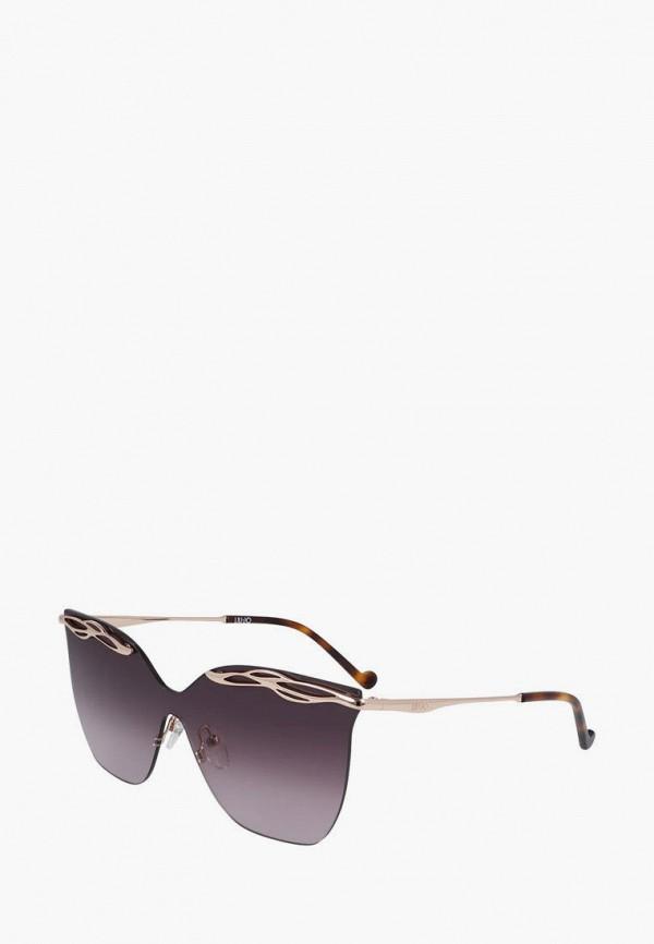 женские солнцезащитные очки кошачьи глаза liu jo, золотые
