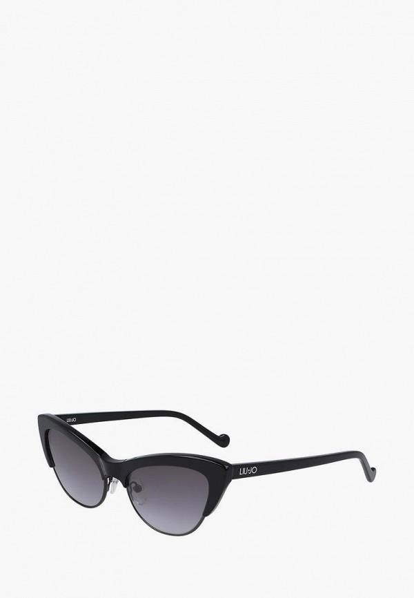 женские солнцезащитные очки кошачьи глаза liu jo, черные