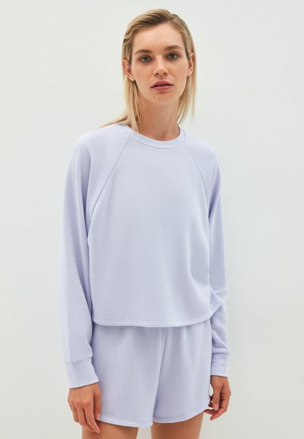 женский свитшот zarina, фиолетовый
