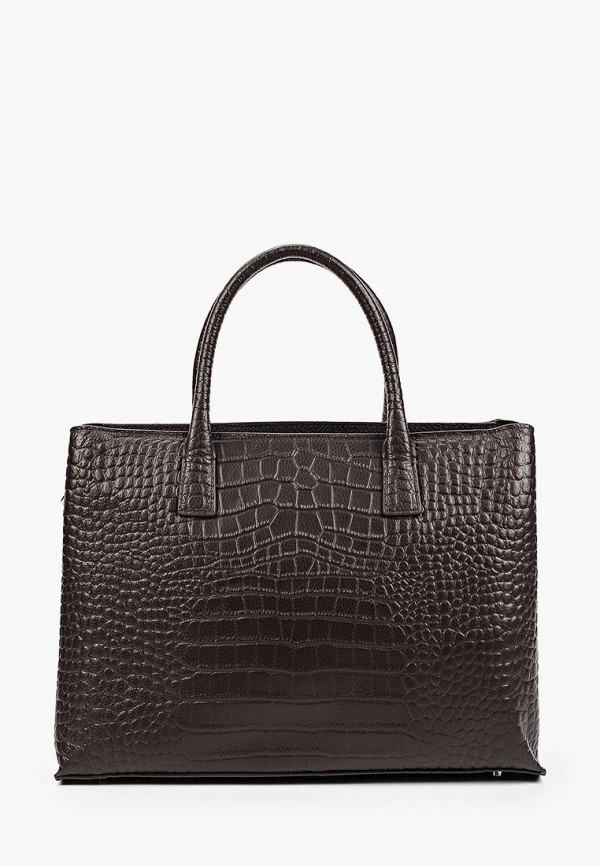 женская сумка с ручками mascotte, коричневая