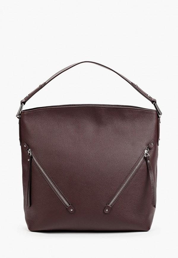 женская сумка с ручками mascotte, бордовая
