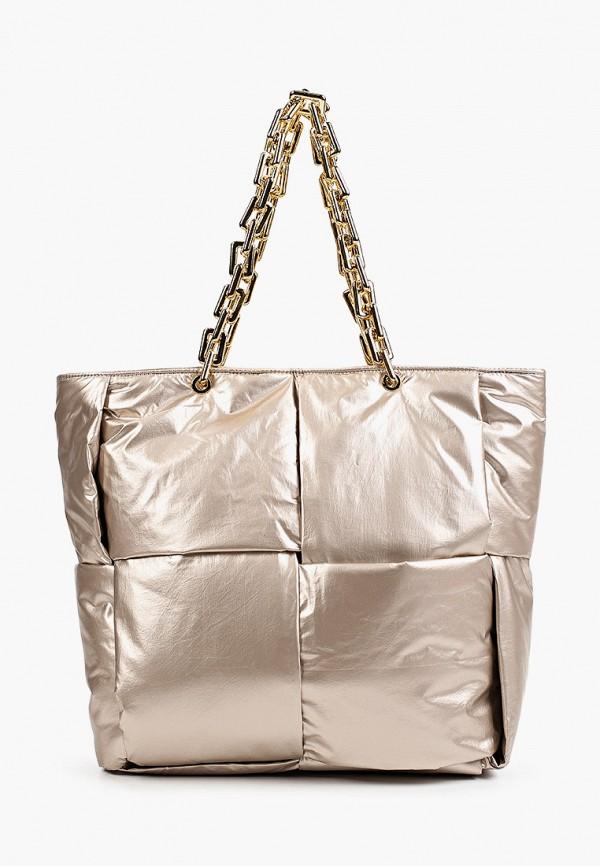 женская сумка-шоперы vitacci, золотая