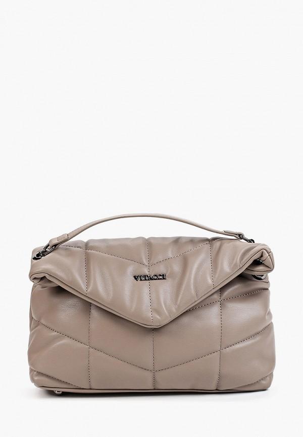 женская сумка через плечо vitacci, серая
