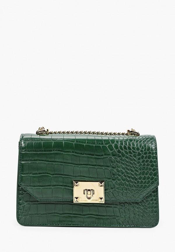 женская сумка с ручками vitacci, зеленая