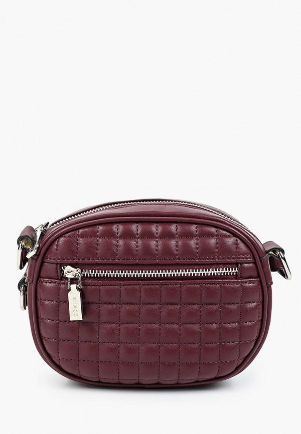 женская сумка через плечо vitacci, бордовая