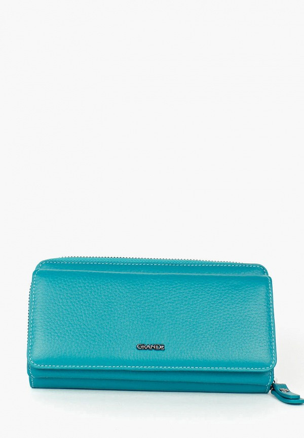 женский кошелёк grande, бирюзовый