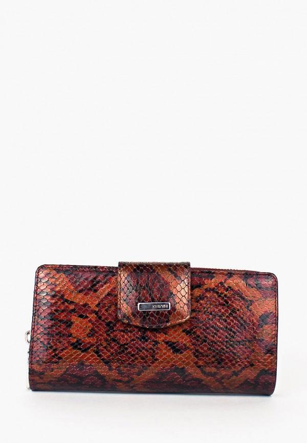женский кошелёк karya, коричневый