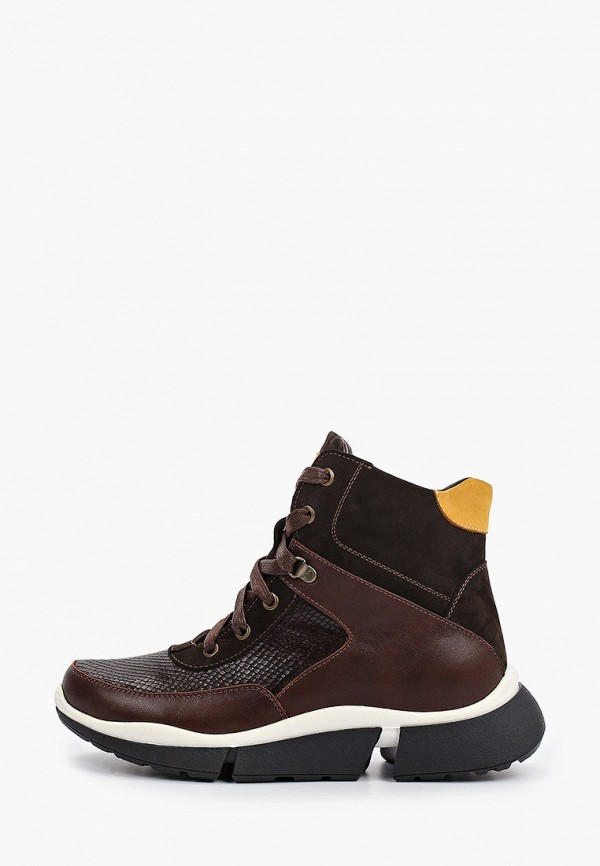 женские высокие ботинки valley, коричневые
