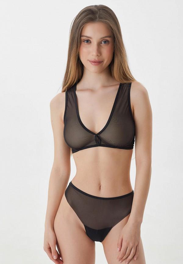 женские трусы-стринги trofme underwear, черные