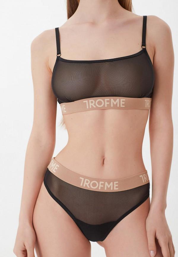 женский бюстгальтер trofme underwear, черный