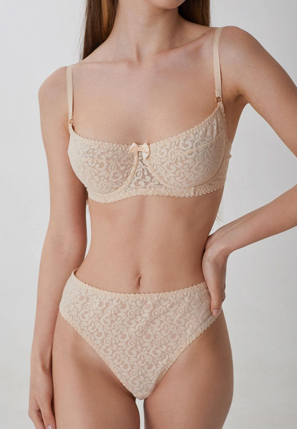 женские трусы-стринги trofme underwear, бежевые