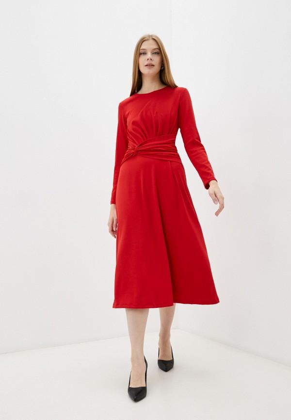 женское повседневные платье luvine, красное