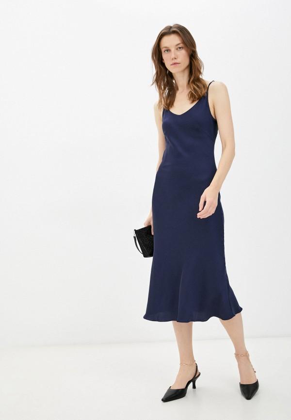 женское платье-комбинация luvine, синее