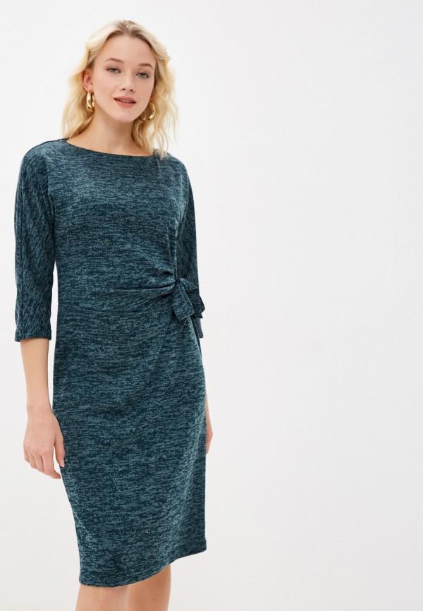 женское повседневные платье settimo senso, бирюзовое