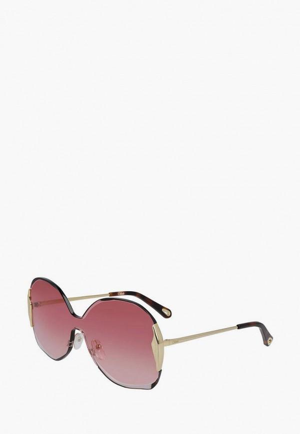 женские квадратные солнцезащитные очки chloe, серебряные