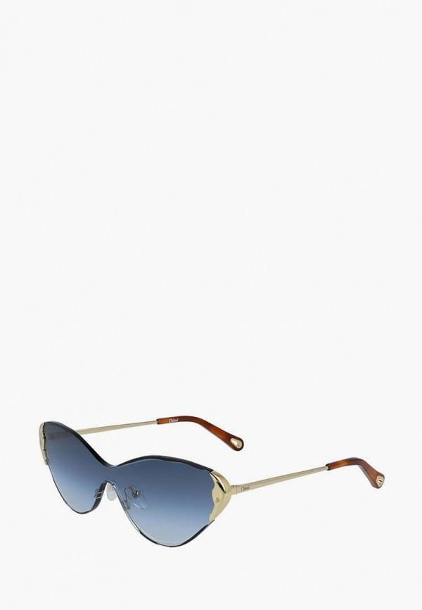 женские солнцезащитные очки кошачьи глаза chloe, серебряные