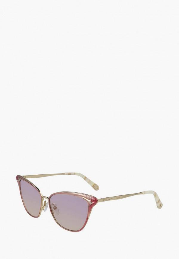 женские солнцезащитные очки кошачьи глаза chloe, розовые