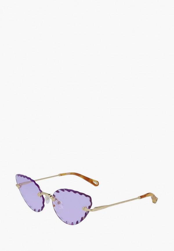 женские солнцезащитные очки кошачьи глаза chloe, золотые