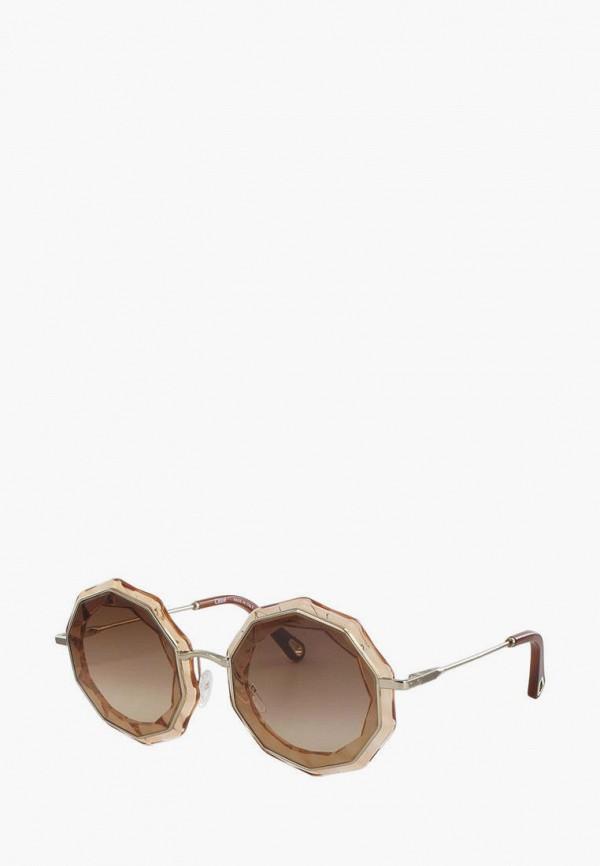 женские солнцезащитные очки chloe, серебряные