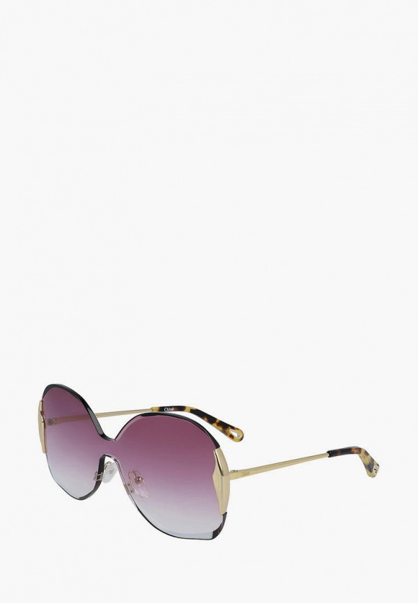женские квадратные солнцезащитные очки chloe, фиолетовые
