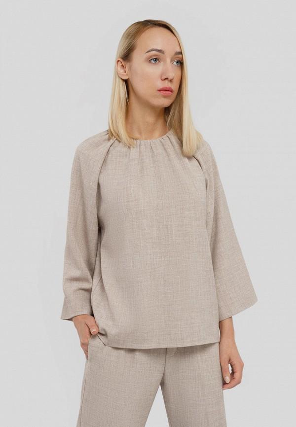 женская блузка с длинным рукавом inwear, бежевая