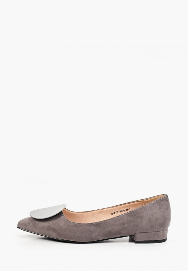 женские туфли с закрытым носом inario, серые