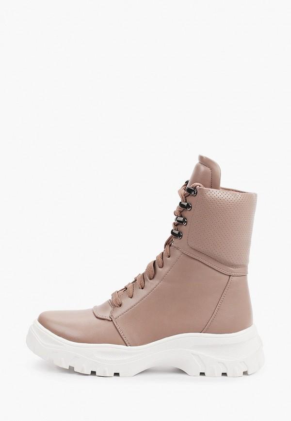 женские высокие ботинки inario, бежевые