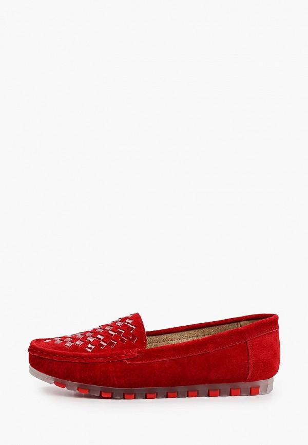 женские мокасины quattrocomforto, красные